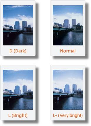 Instax Mini 90 Photo Brightness